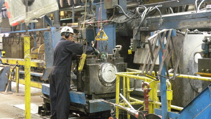 Man working in a manufacturing factory