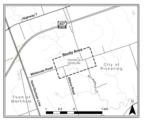 Location map of Whitevale Study Area