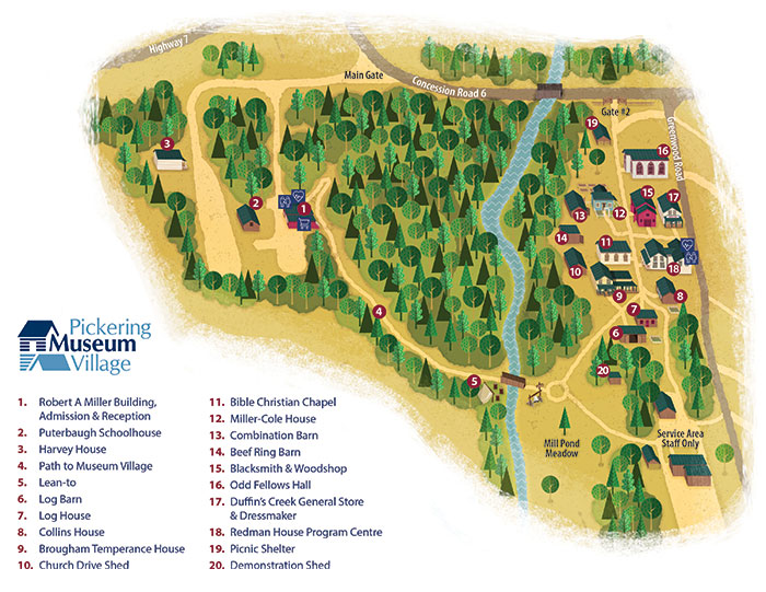 Pickering Museum Village Site Map