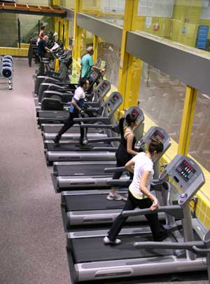 people working out at the Pickering Recreation Complex