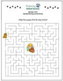 Puppy Maze activity sheet