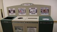 garbage and recyling bins