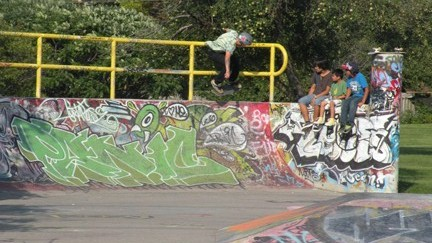 Skateboarding at Pickering's Skate Park