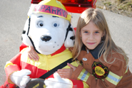 sparky, the dog, and little girl