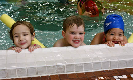 Children at the Pickering Recreation Complex swimming pool
