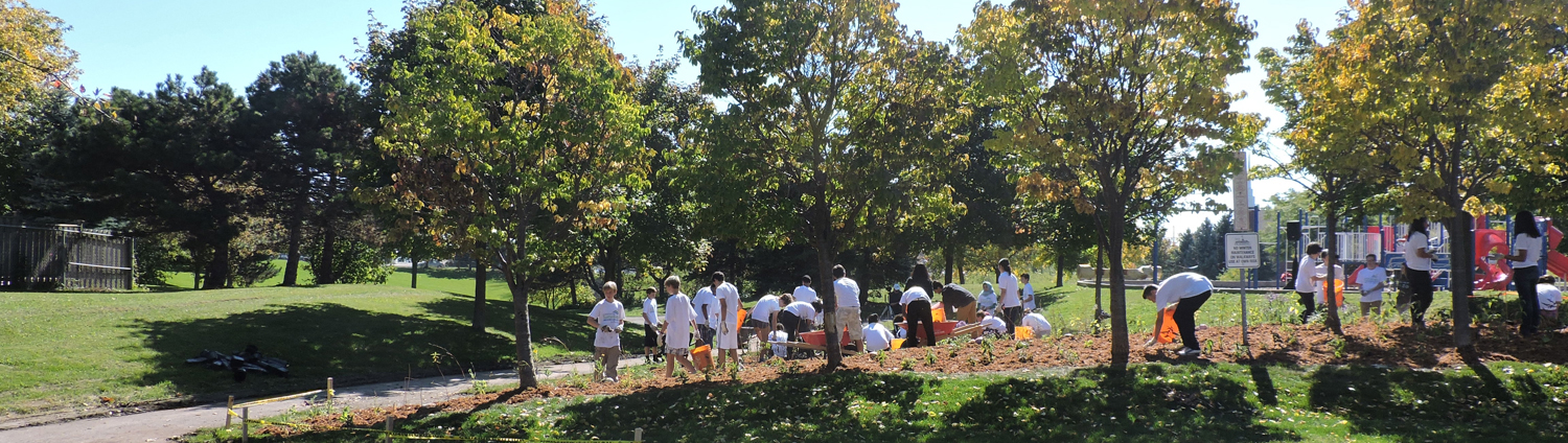 planting event at Ernie L. Stroud Park