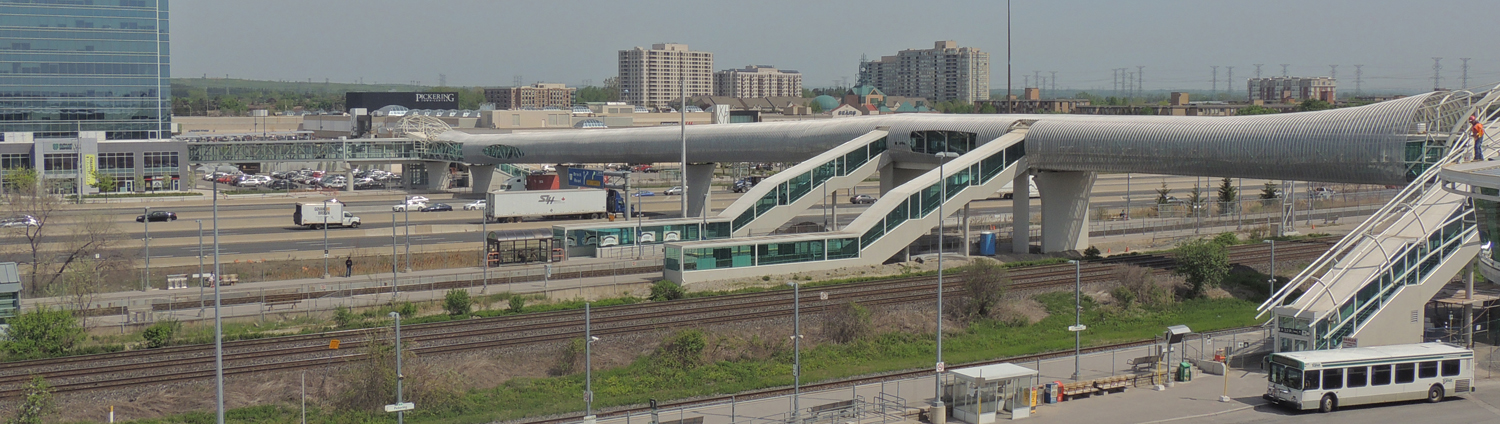 Pickering Go Station and Pedestrian Bridge